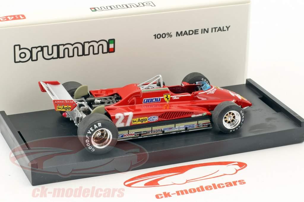 Gilles Villeneuve Ferrari 162C2 #27 Brasile GP formula 1 1982 1:43 Brumm