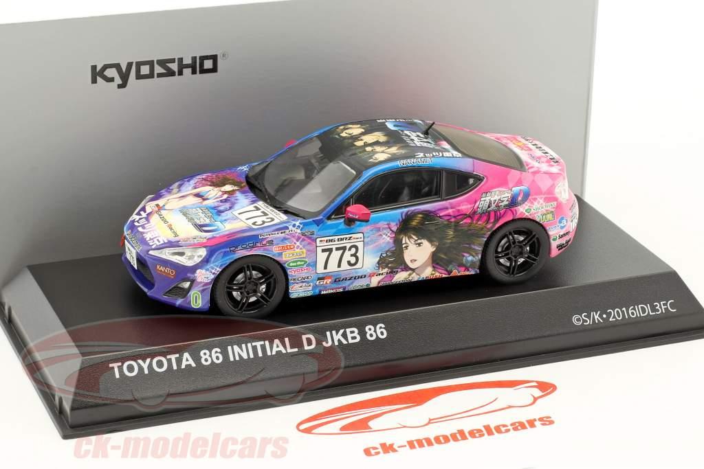 Toyota 86 #773 Initial D JKB 86 année de construction 1986 bleu / rose 1:43 Kyosho