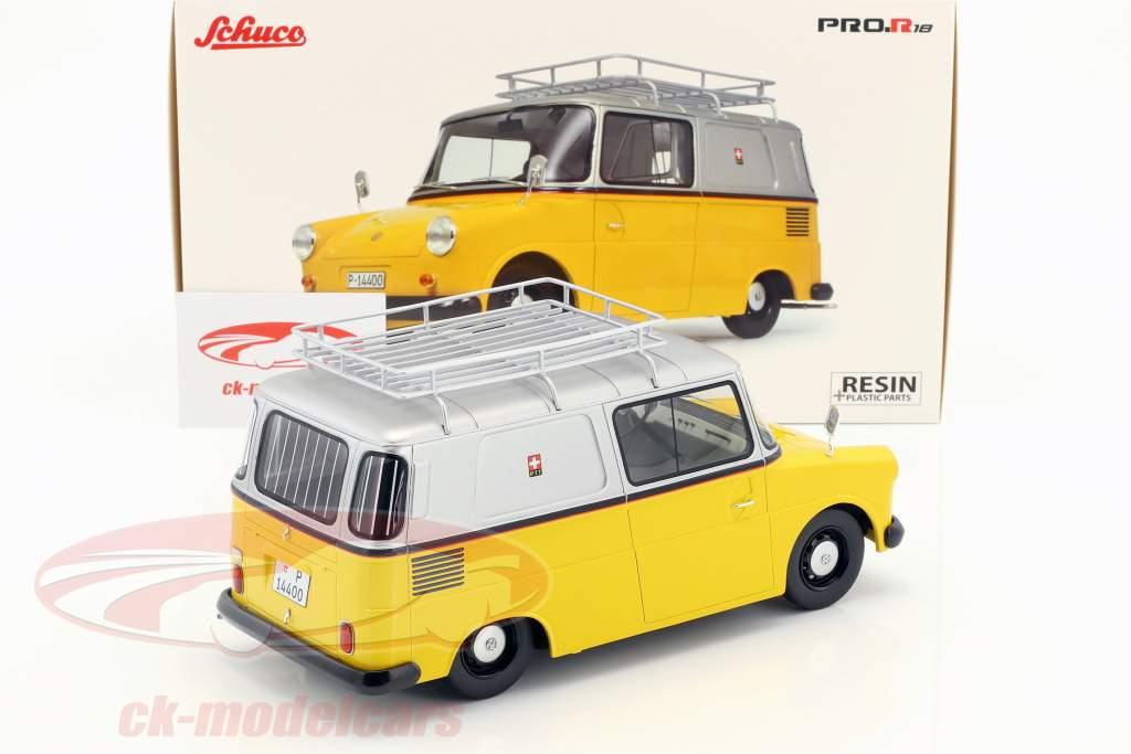 Volkswagen VW Fridolin PTT yellow / silver 1:18 Schuco
