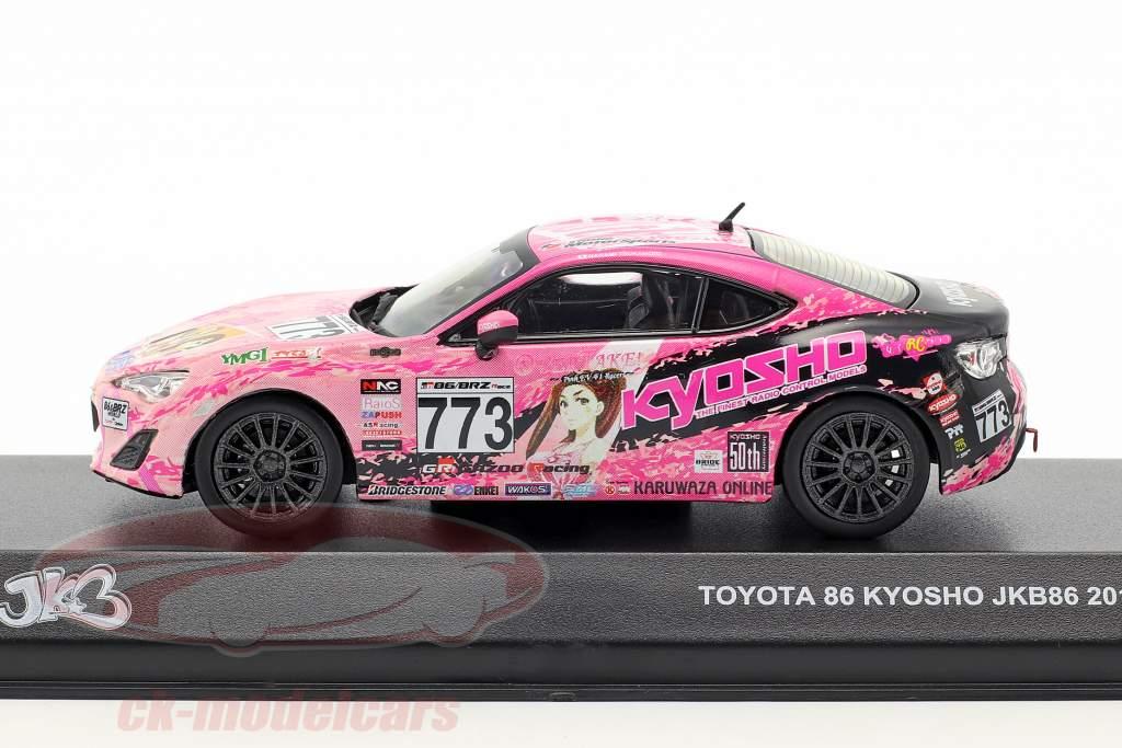 Toyota 86 #773 JKB86 année de construction 2013 rose / noir 1:43 kyosho