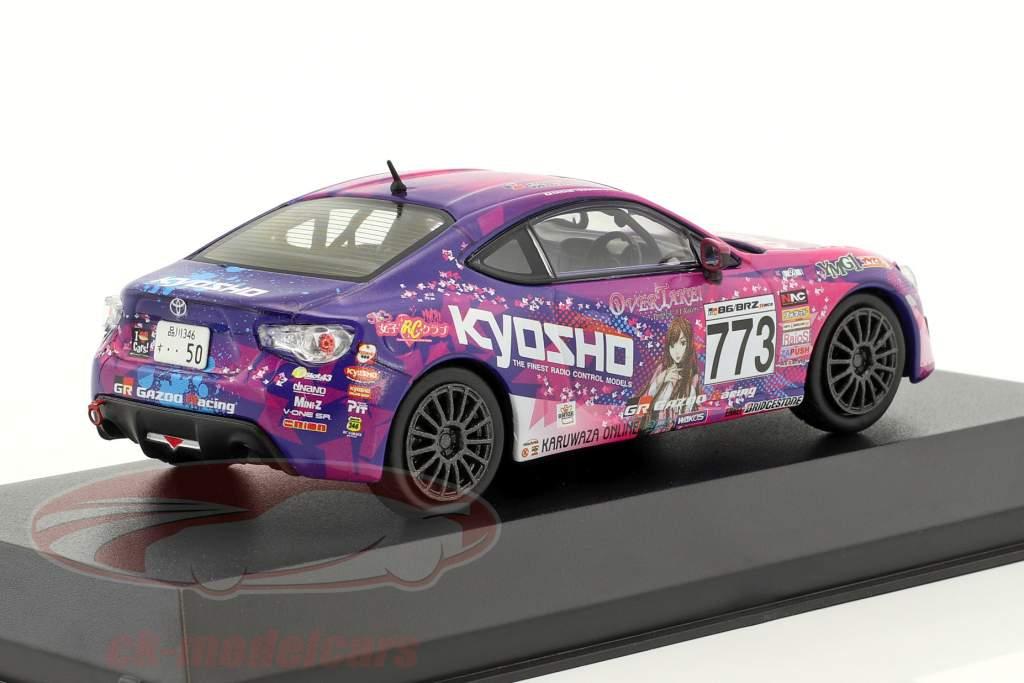 Toyota 86 #773 JKB86 année de construction 2014 pourpre / rose 1:43 Kyosho