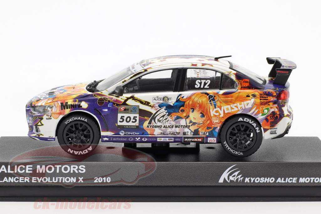 Mitsubishi Lancer Evo X #505 Alice Motors 2010 1:43 Kyosho