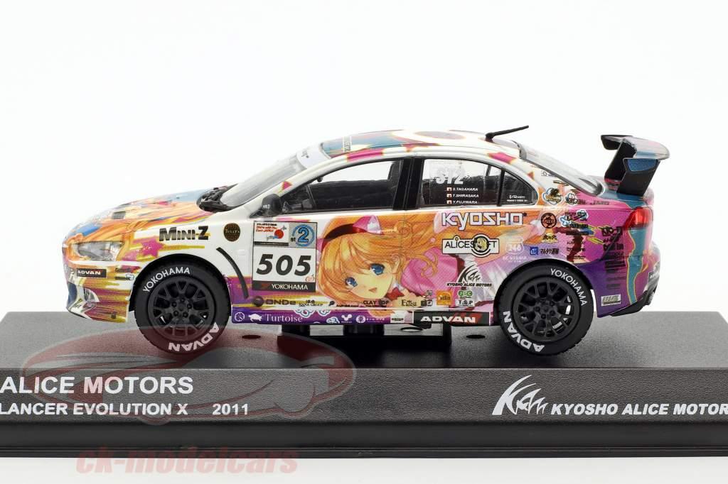 Mitsubishi Lancer Evo X #505 Alice Motors 2011 1:43 Kyosho