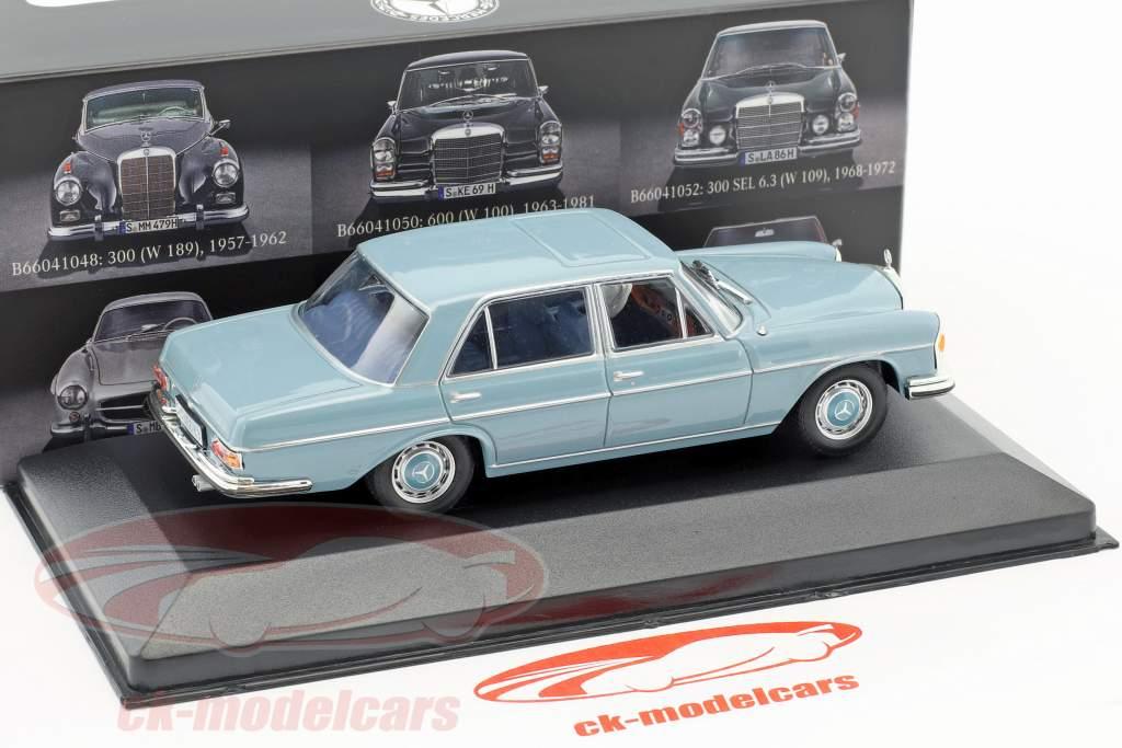 Mercedes-Benz 300 SEL 6.3 (W109) année de construction 1968-1972 bleu 1:43 Atlas