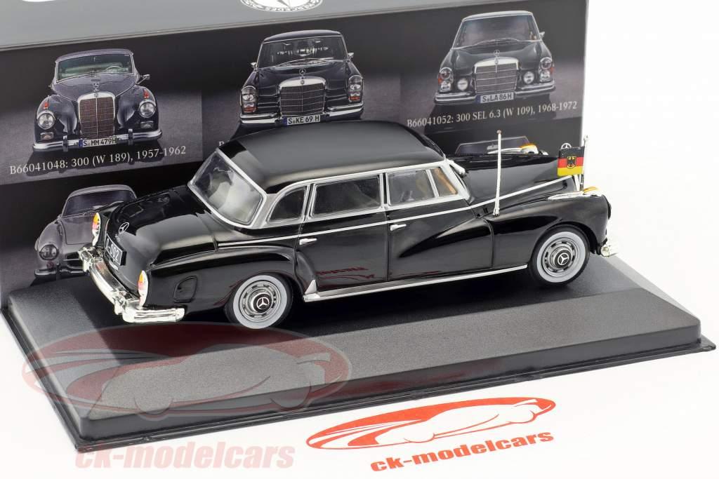 Mercedes-Benz 300 (W189) Konrad Adenauer year 1957-1962 black 1:43 Atlas