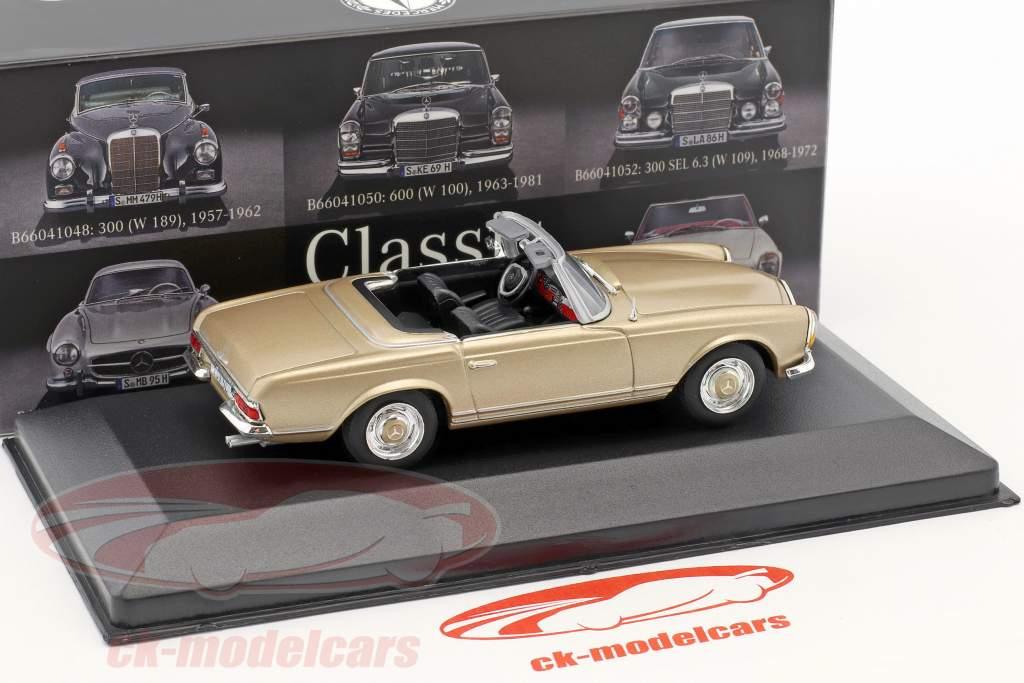 Mercedes-Benz 230 SL (W113) Pagode année de construction 1963-1967 beige 1:43 Atlas