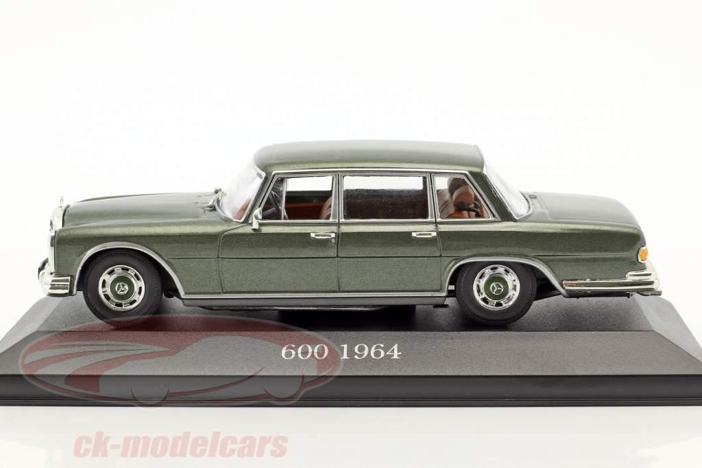 Mercedes-Benz 600 (W100) year 1963-1981 pine green 1:43 Atlas