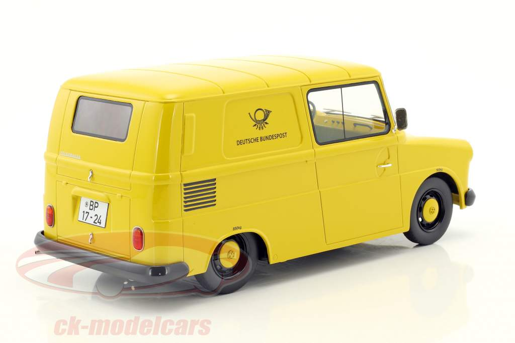 Volkswagen VW Fridolin German Federal post yellow 1:18 Schuco