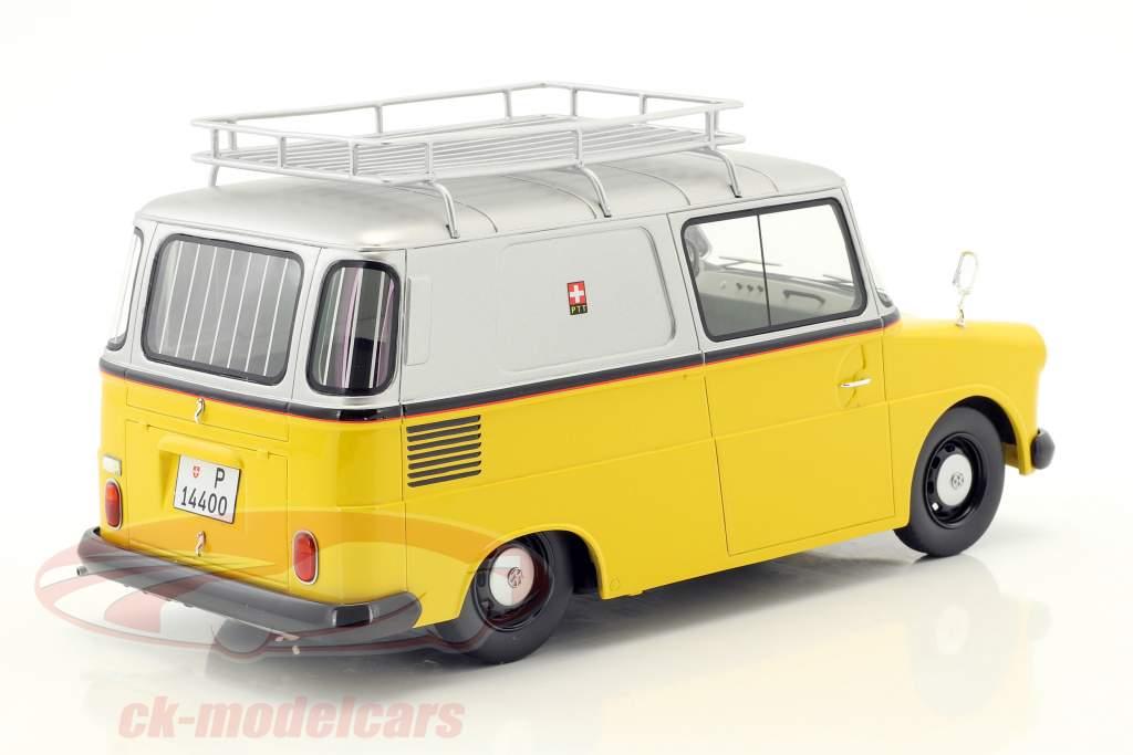 Volkswagen VW Fridolin PTT jaune / argent 1:18 Schuco