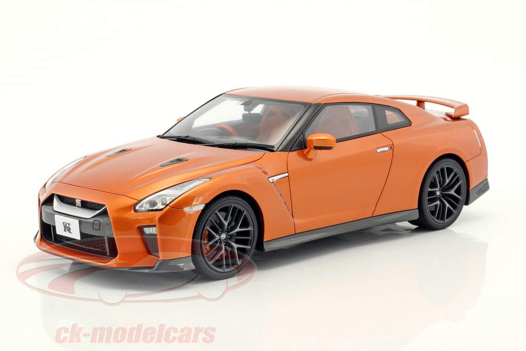 Nissan GT-R R35 orange métallique 1:18 Kyosho