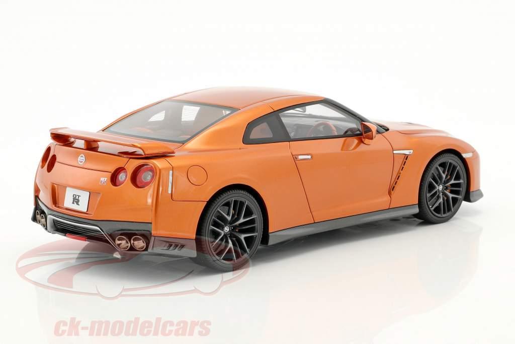 Nissan GT-R R35 arancione metallico 1:18 Kyosho