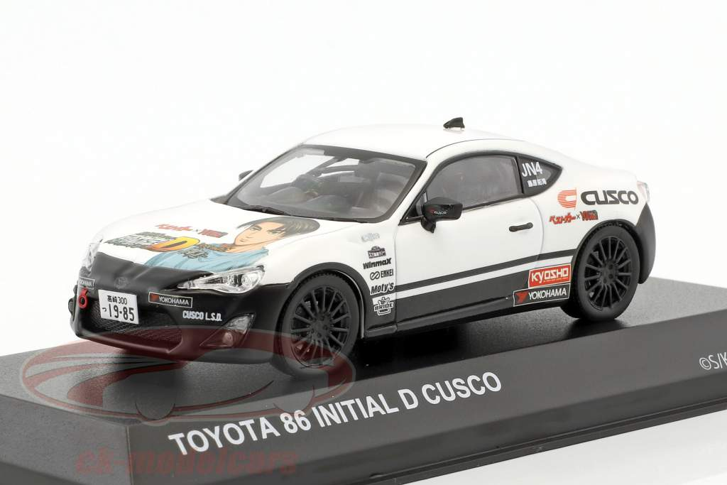 Toyota 86 Initial D Cusco year 1986 white / black 1:43 Kyosho