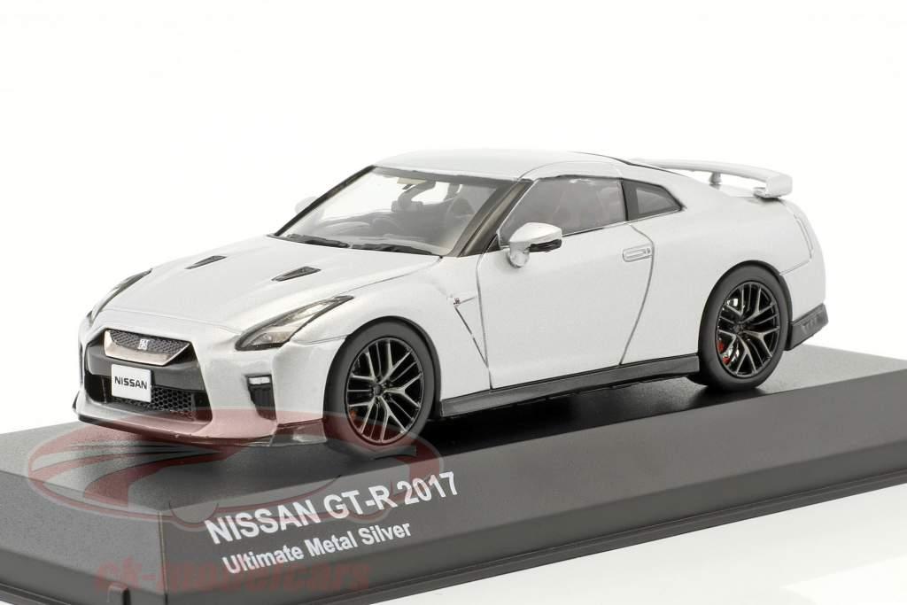 Nissan GT-R (R35) anno di costruzione 2017 argento metallico 1:43 Kyosho