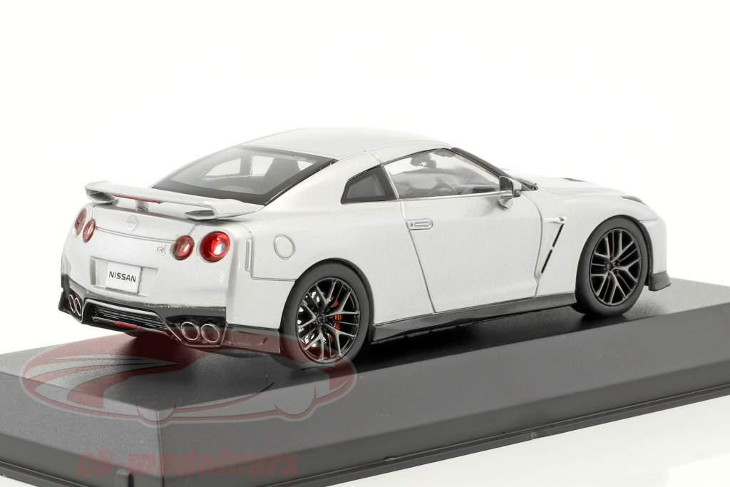 Nissan GT-R (R35) année de construction 2017 argent métallique 1:43 Kyosho