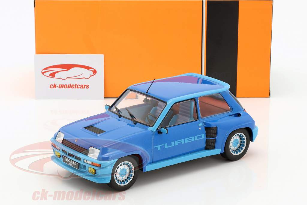 Renault 5 Turbo 1 Baujahr 1981 blau metallic 1:18 Ixo