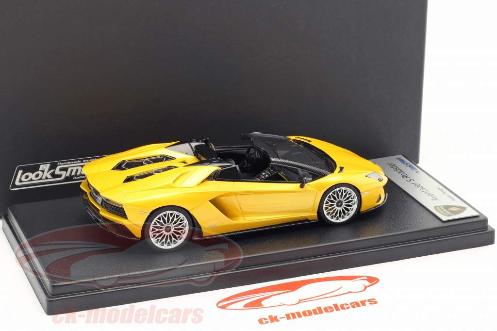 Lamborghini Aventador S Roadster giallo metallico 1:43 LookSmart