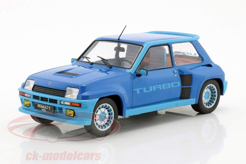 Renault 5 Turbo 1 année de construction 1981 bleu métallique 1:18 Ixo