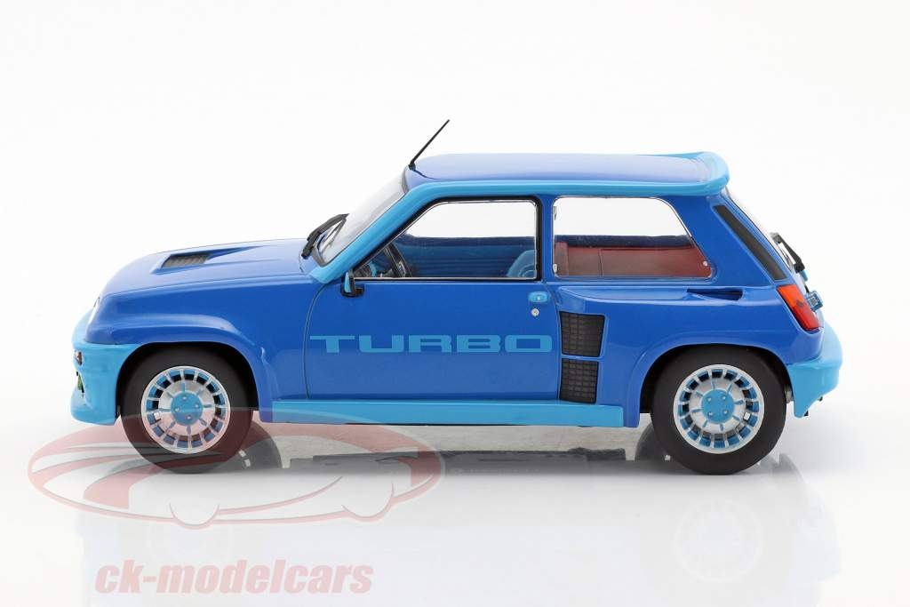 Renault 5 Turbo 1 anno di costruzione 1981 blu metallico 1:18 Ixo