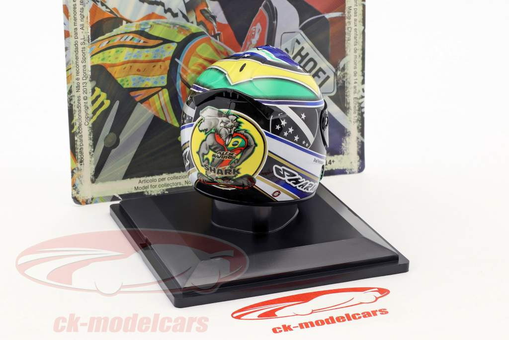 Alex Barros MotoGP 2007 Last Race helmet 1:5 Altaya