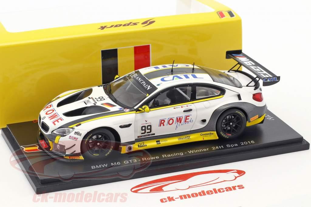BMW M6 GT3 #99 gagnant 24h Spa 2016 Rowe Racing 1:43 Spark