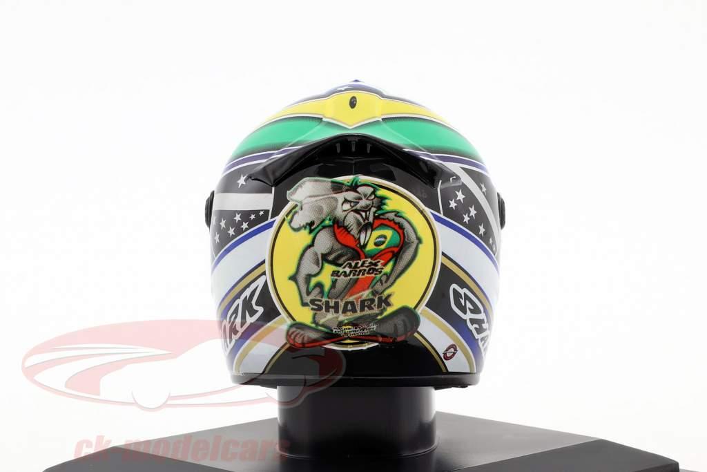 Alex Barros MotoGP 2007 Last Race Helm 1:5 Altaya