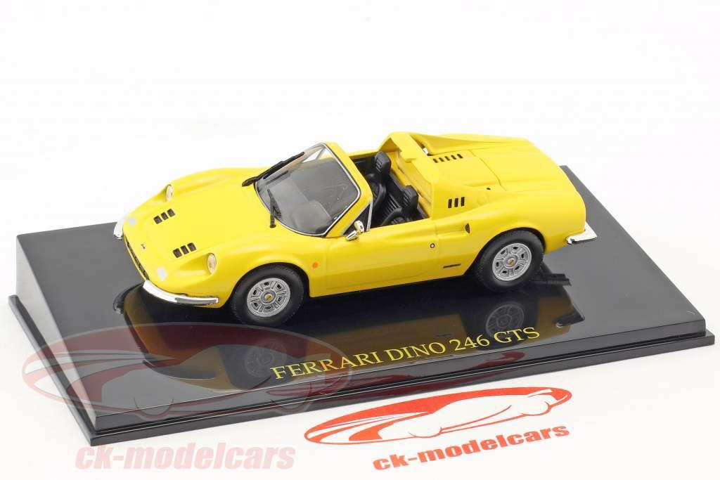 Ferrari Dino 246 GTS jaune avec vitrine 1:43 Altaya