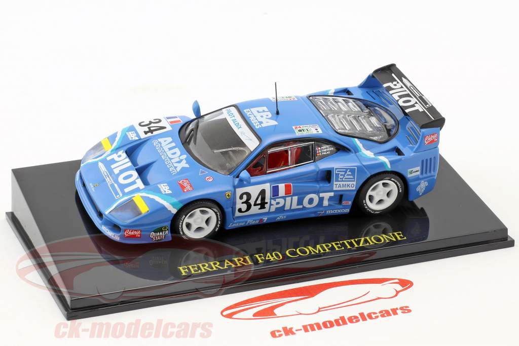 Ferrari F40 #34 24h LeMans 1995 Ferte, Thevenin, Palau con vetrina 1:43 Altaya