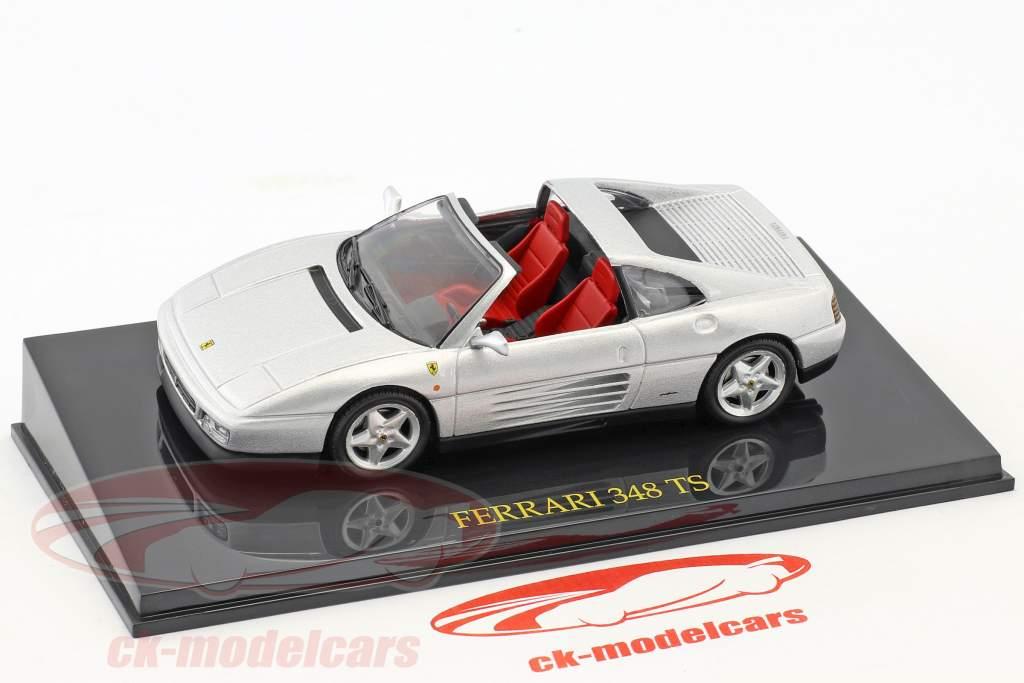 Ferrari 348 TS silber mit Vitrine 1:43 Altaya