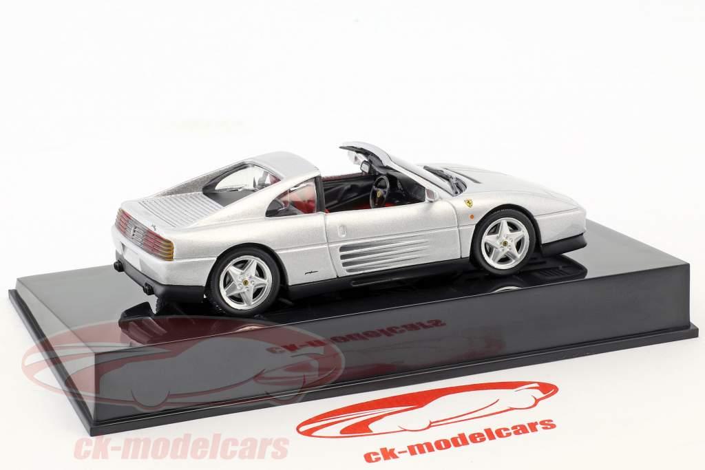 Ferrari 348 TS argent avec vitrine 1:43 Altaya