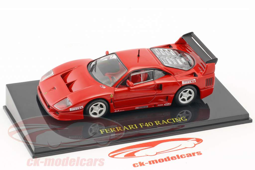 Ferrari F40 Racing rot with showcase 1:43 Altaya