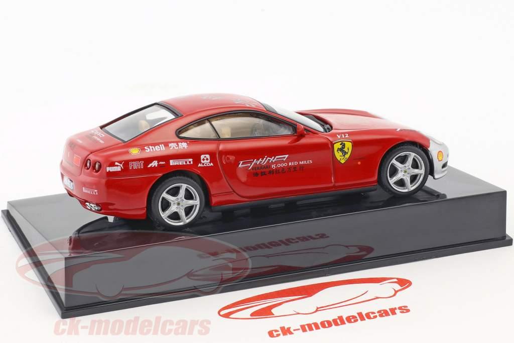Ferrari 612 Scaglietti China Tour rouge / argent avec vitrine 1:43 Altaya