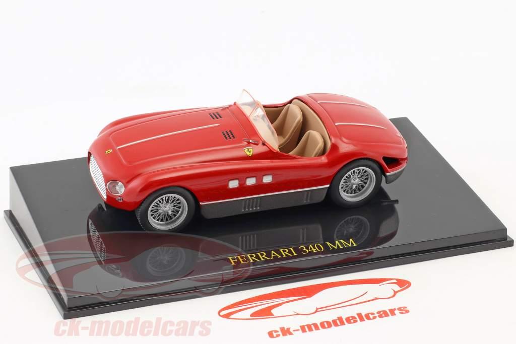 Ferrari 340 MM rosso con vetrina 1:43 Altaya