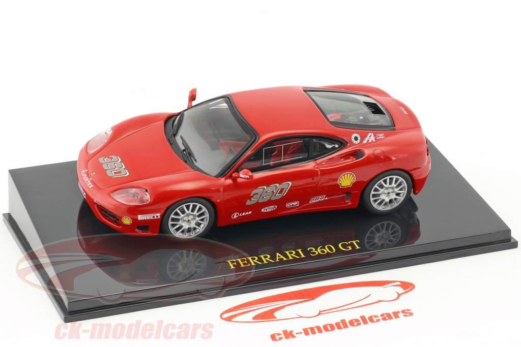 Ferrari 360 GT rouge avec vitrine 1:43 Altaya