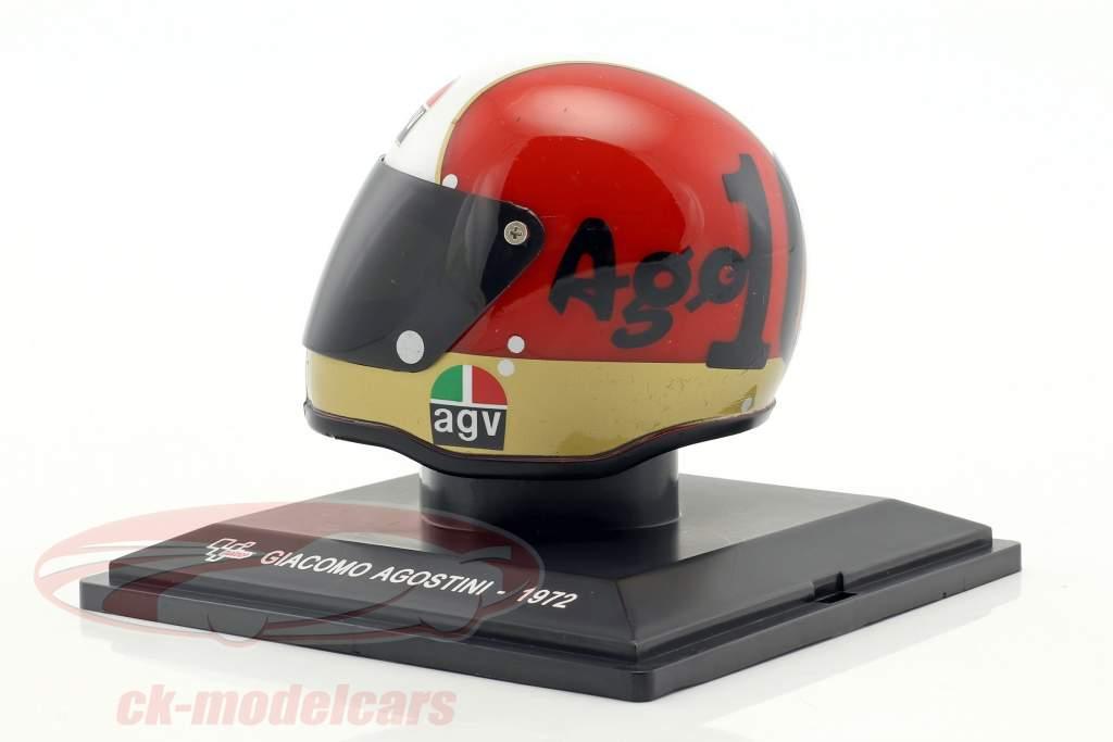 Giacomo Agostini Weltmeister 500cm³ 1972 Helm 1:5 Altaya
