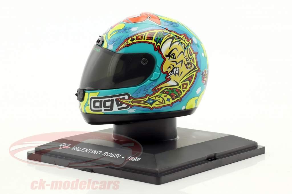 Valentino Rossi campione del mondo 250cm³ 1999 casco 1:5 Altaya