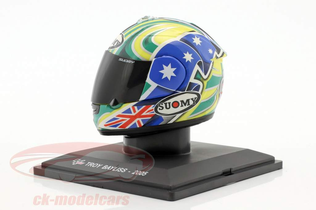 Troy Bayliss MotoGP 2005 casco 1:5 Altaya