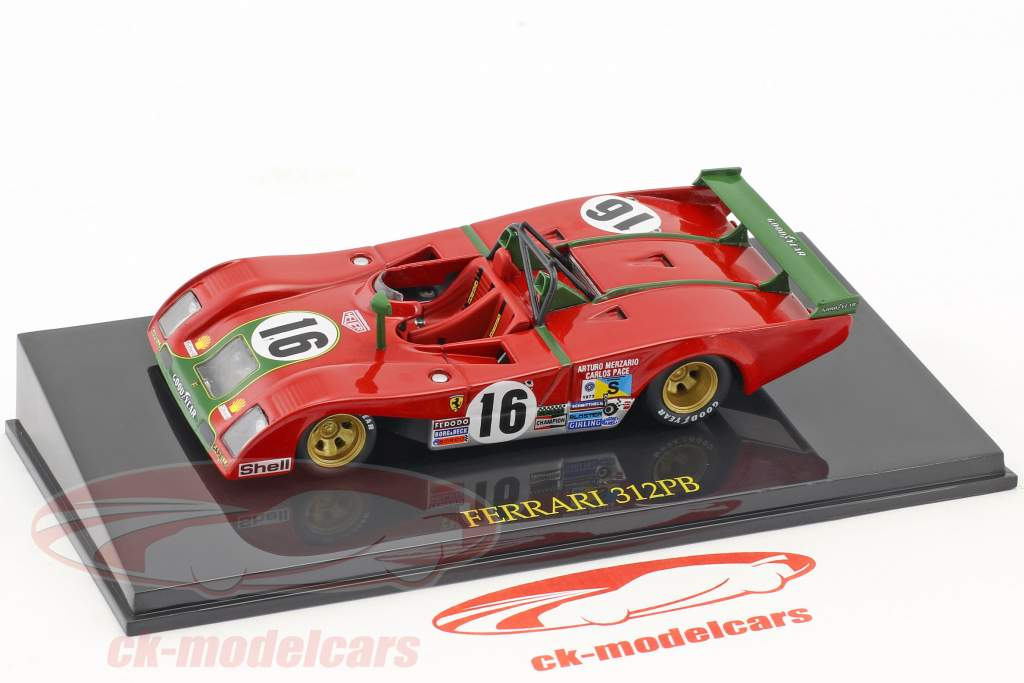 Ferrari 312 PB #16 2nd 24h LeMans 1973 Merzario, Pace con vetrina 1:43 Altaya