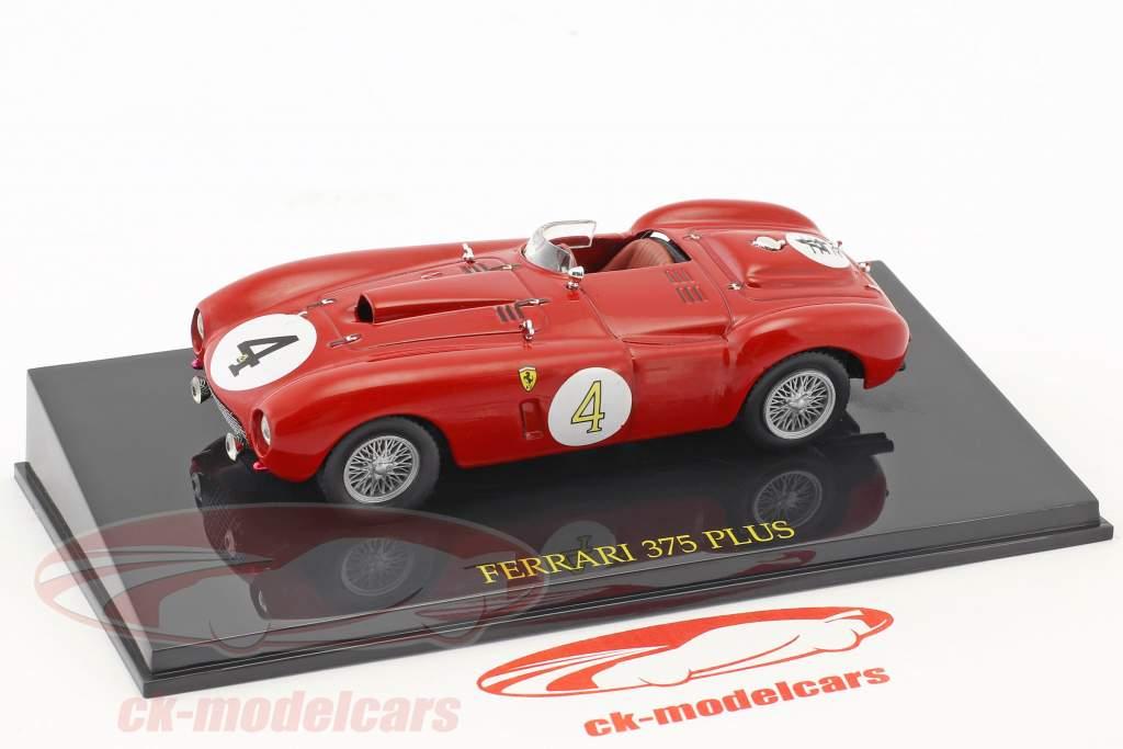 Ferrari 375 Plus #4 gagnant 24h LeMans 1954 Gonzalez, Trintignant avec vitrine 1:43 Altaya