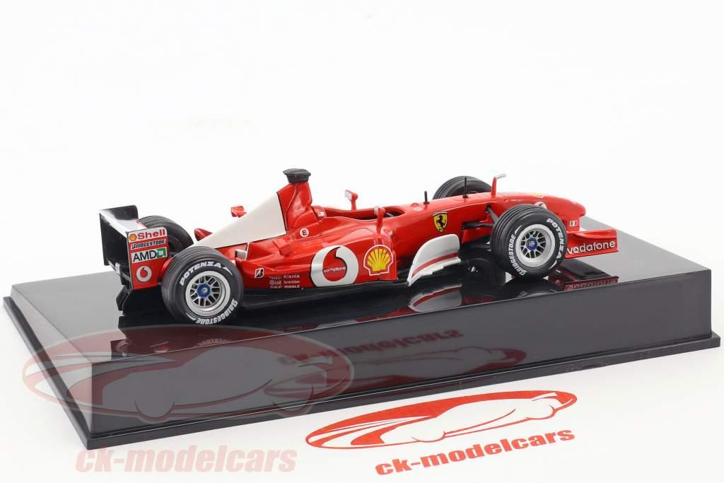 M. Schumacher Ferrari F2002 #1 wereldkampioen Formel 1 2002 met vitrine 1:43 Altaya