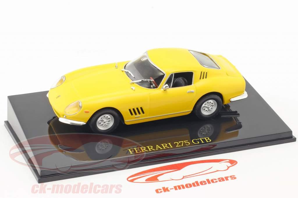 Ferrari 275 GTB gelb mit Vitrine 1:43 Altaya