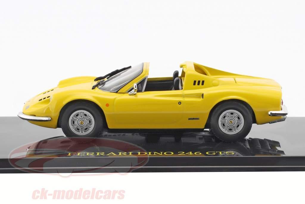 Ferrari Dino 246 GTS giallo con vetrina 1:43 Altaya