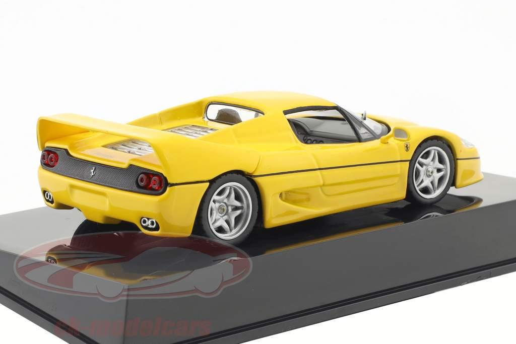 Ferrari F50 gelb mit Vitrine 1:43 Altaya