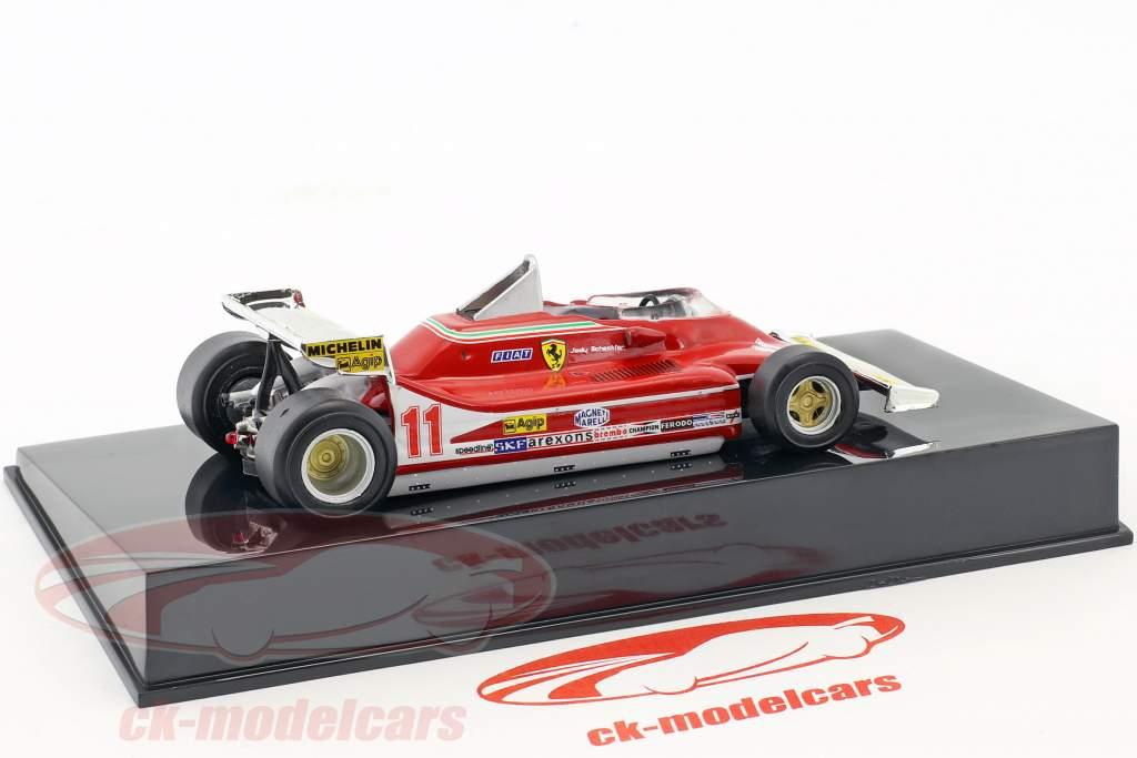 Jody Scheckter Ferrari 312 T4 #11 champion du monde formule 1 1979 avec vitrine 1:43 Altaya