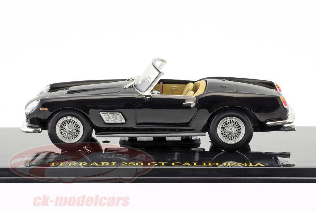 Ferrari 250 GT California nero con vetrina 1:43 Altaya