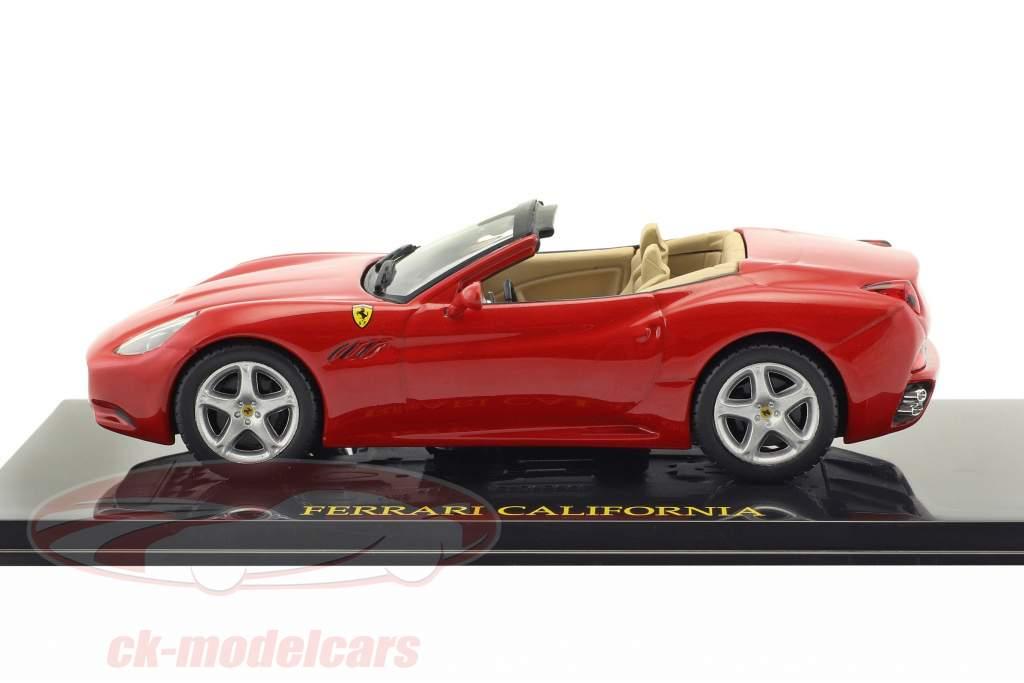 Ferrari California rouge avec vitrine 1:43 Altaya