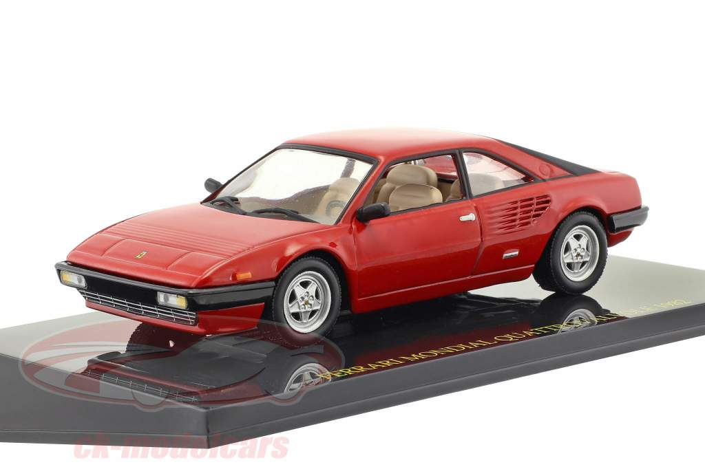 Ferrari Mondial Quattrovalvole year 1982 red with showcase 1:43 Altaya