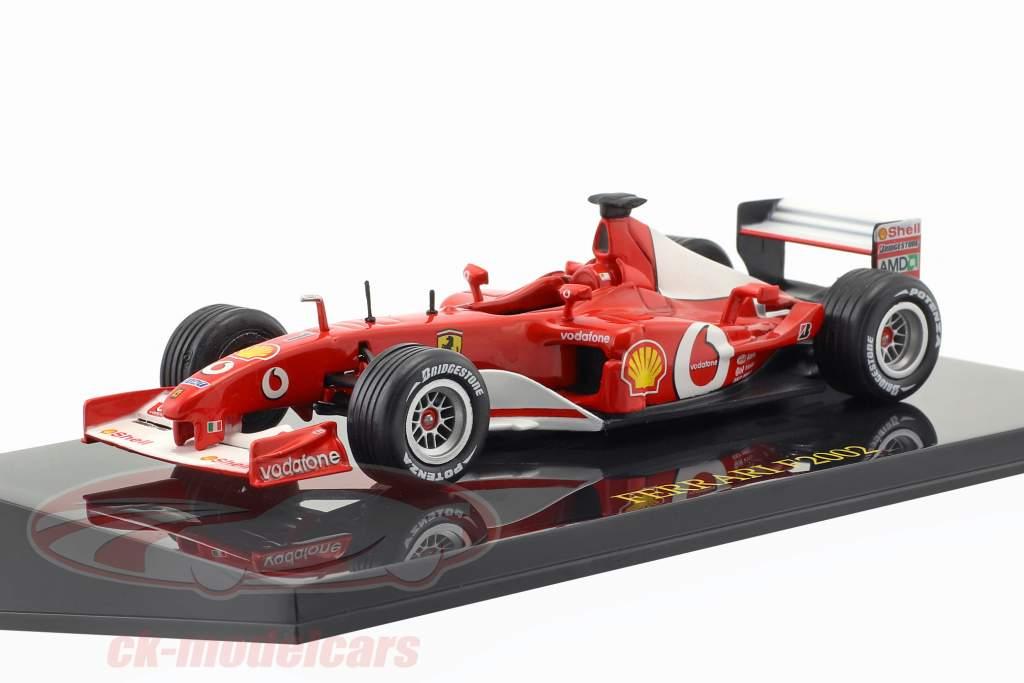 M. Schumacher Ferrari F2002 #1 campione del mondo Formel 1 2002 con vetrina 1:43 Altaya