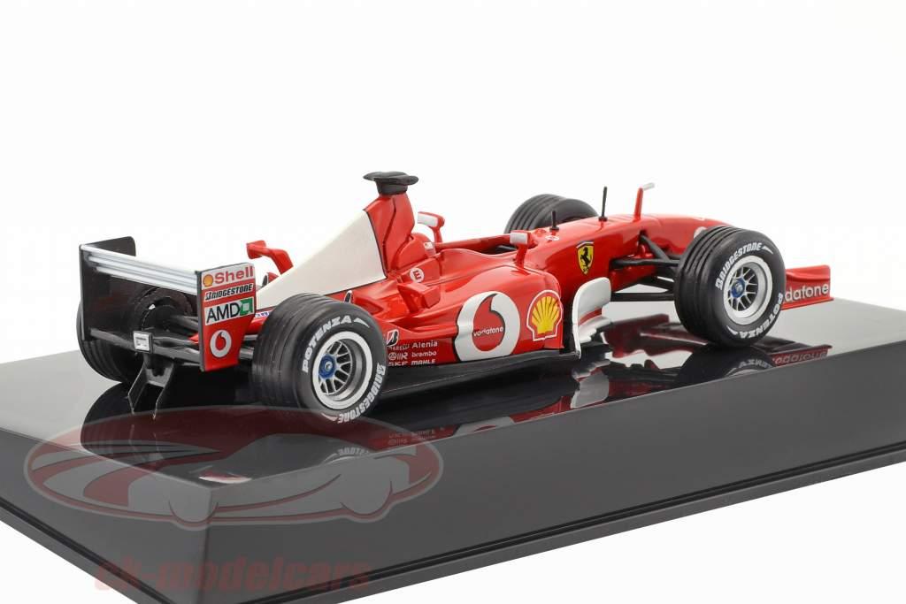 M. Schumacher Ferrari F2002 #1 campeão do mundo Formel 1 2002 com mostruário 1:43 Altaya