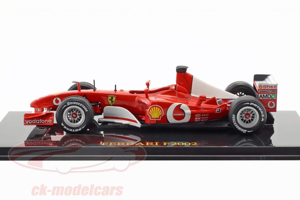 M. Schumacher Ferrari F2002 #1 champion du monde Formel 1 2002 avec vitrine 1:43 Altaya