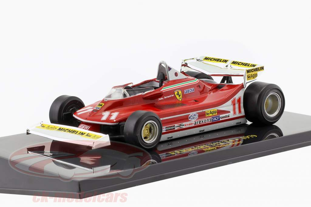 Jody Scheckter Ferrari 312 T4 #11 campione del mondo formula 1 1979 con vetrina 1:43 Altaya